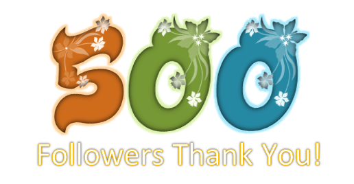 Let's Celebrate! 500 Twitter Followers!